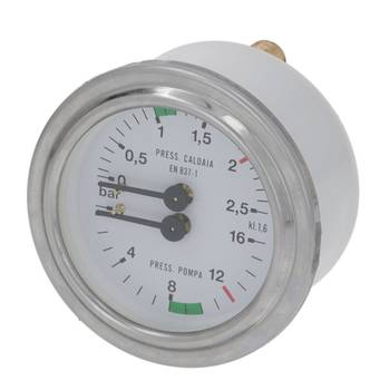 MANOMETER DOPPELSKALA | ø 63 mm - 1/8 | 0÷2,5/0÷16 BAR |...