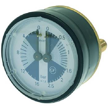 MANOMETER | DOPPELSKALA | 62 mm, 1/8 | 0-2,5/0-16BAR |...