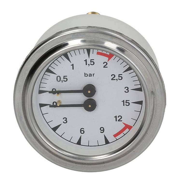MANOMETER | DOPPELSKALA | 0÷3/0÷15 bar | ø 63mm - 1/8 | FÜR LA SAN MARCO 100 - 100 SPINT/E - 105