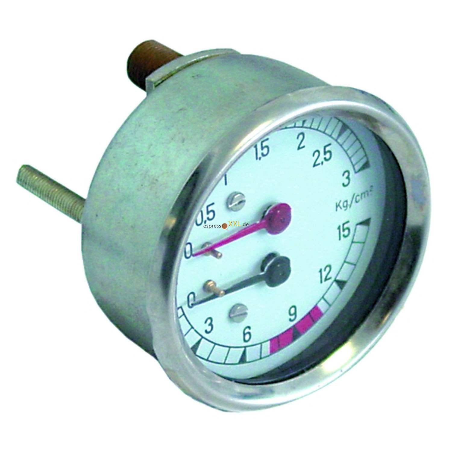 MANOMETER DOPPELSKALA, 67mm, 1/4 (13,2mm), 3.-15-BAR, SOLENRY