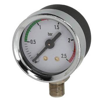 MANOMETER CHROM | ø 41 mm - 0÷2,5 bar | FÜR LA PAVONI...